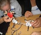 Kids playing with Topobo