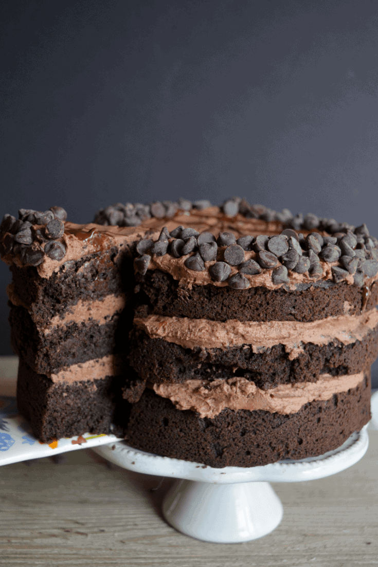 This Keto Death by Chocolate Cake is for the ULTIMATE chocolate lover! It's the perfect low carb sweet treat to satisfy your cravings!   heyketomama.com