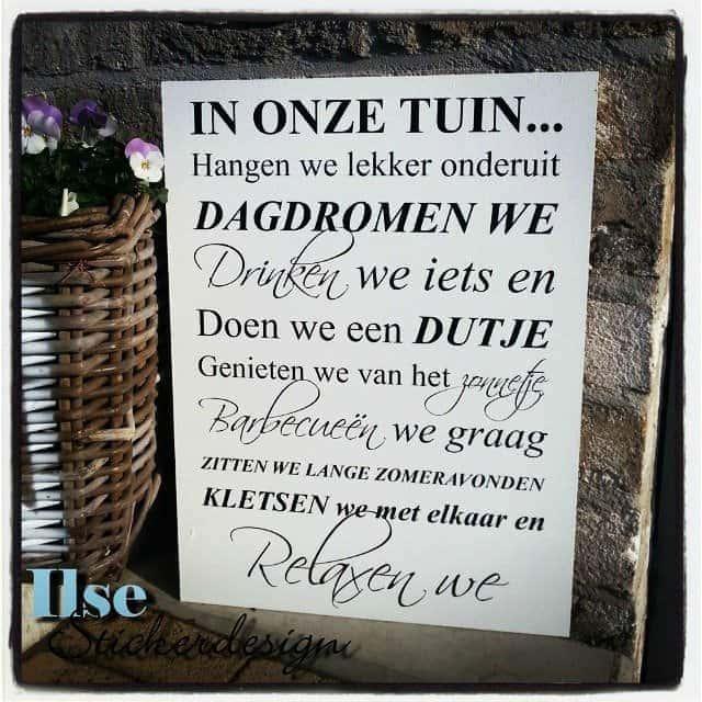 Ilse Stickerdesign ★ hippe tuinstickers