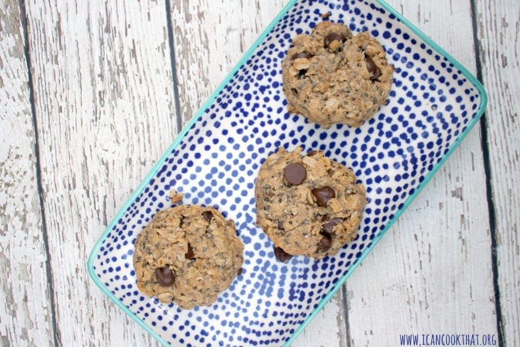Chia Oatmeal Peanut Butter Breakfast Cookies