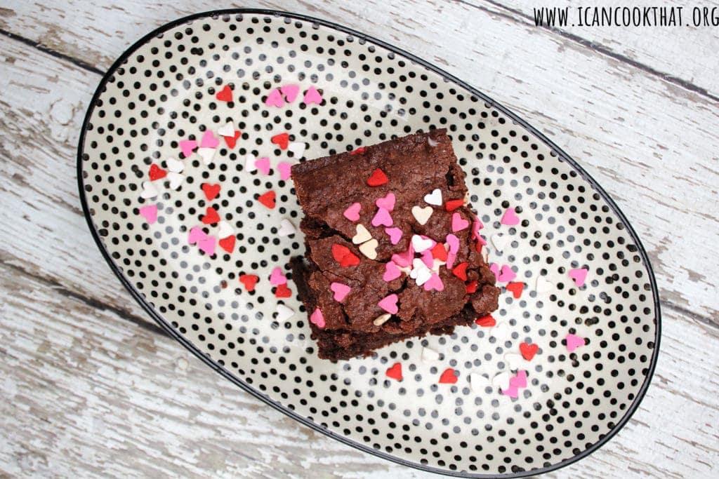 Valentine's Day Almond Flour Brownies