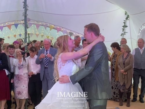 Katheryn & Jame's evening reception at The Dower House with Imagine Wedding & Party Entertainment Wedding DJ