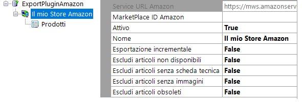 Step 2 - Impostiamo le caratteristiche per l'esportazione del catalogo