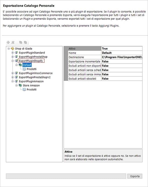 Importare csv in Shopify con ImporterONE