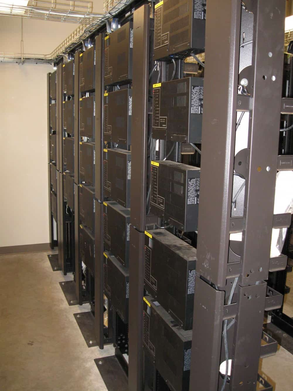 Racks of Amplifiers Paging Systems design