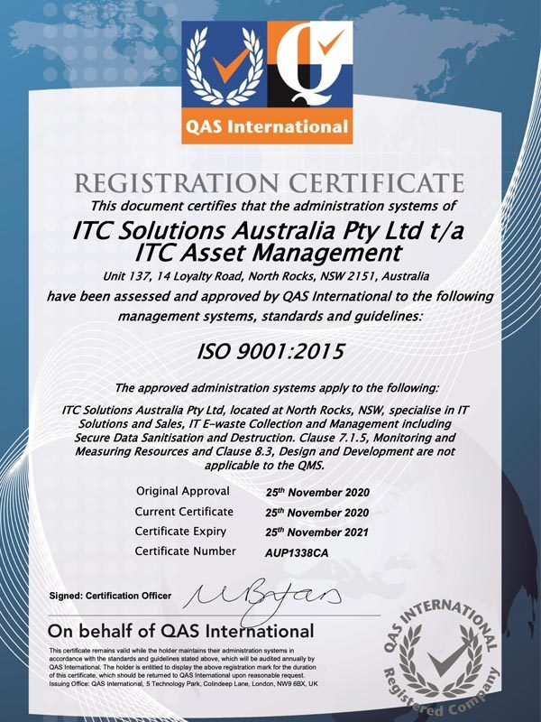ITC_Asset_Management_ISO_certification_9001