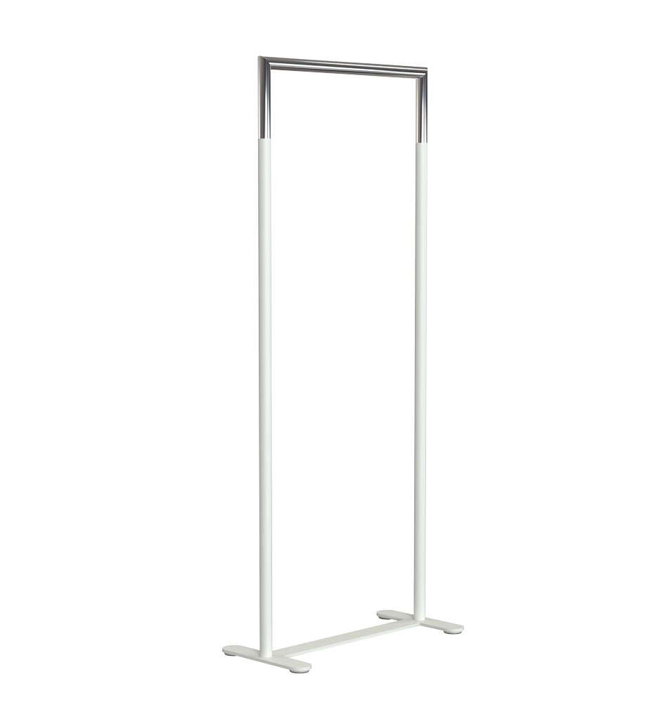U6002 Clothes Rack White Stainless