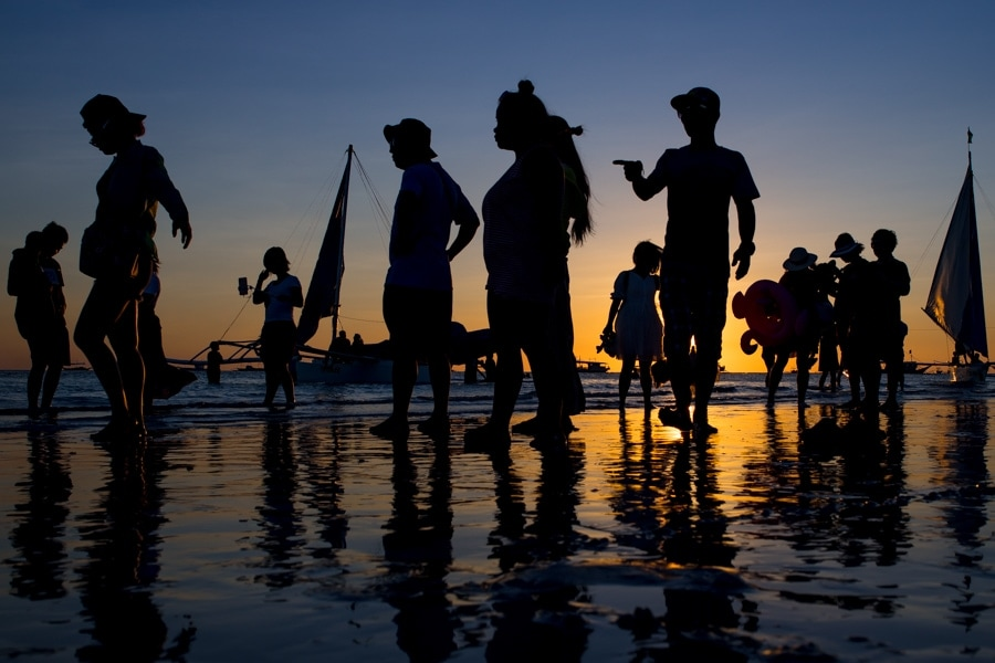 Sunset photo by Boracay wedding photographer Julian Abram Wainwright