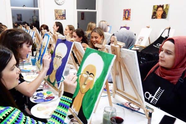 paint and sip workshops
