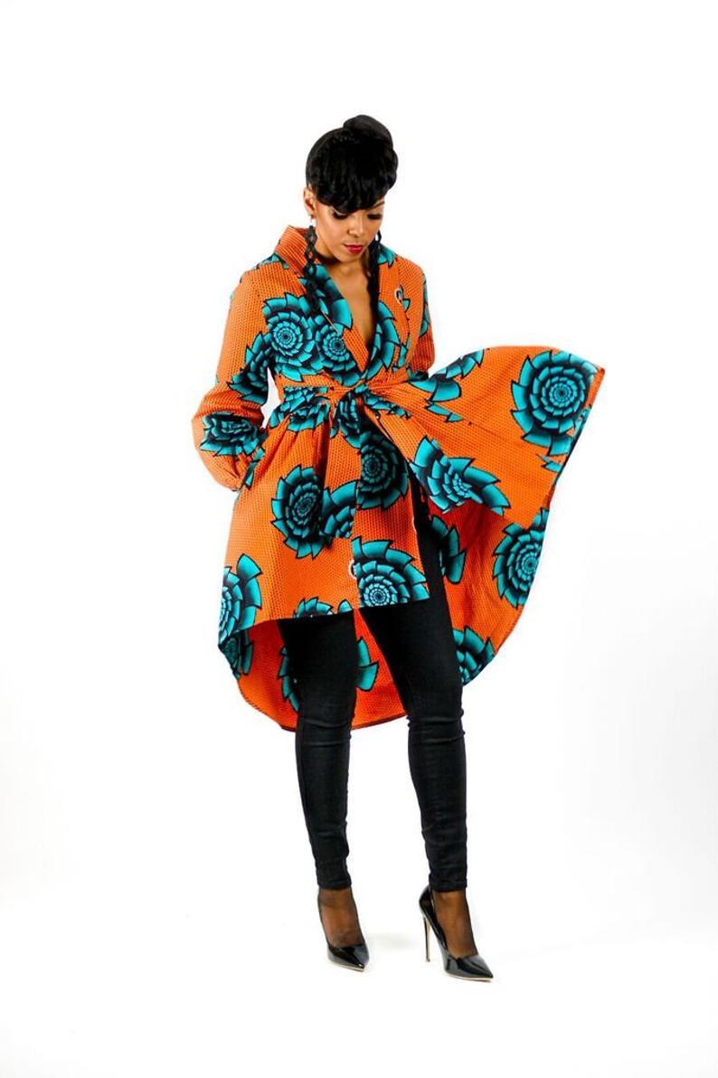 Wrap Around African Dress