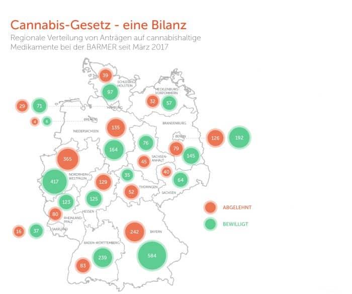 Bayern an der Spitze bei Cannabis-Anträgen