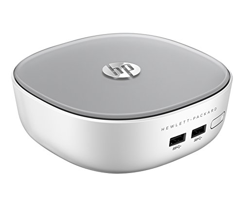 HP Pavilion Mini 300-020ns - Ordenador de sobremesa (Intel Pentium 3558U, 4 GB de RAM, Disco HDD de 500 GB, Intel HD Graphics, Windows 8.1), blanco y plata