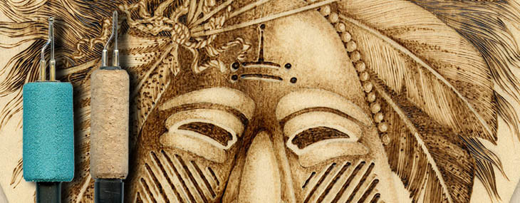 Ceremonial Mask Pyrography Project 5