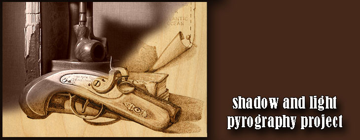 Color, Shadow and Light in Pyrography