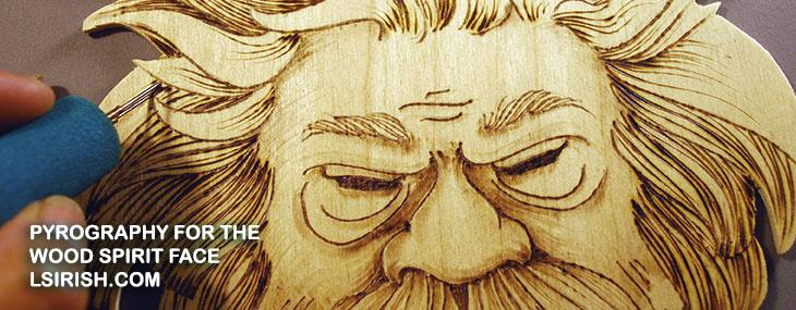 Cross-Crafting Seminar – Wood Burning the Wood Spirit Face