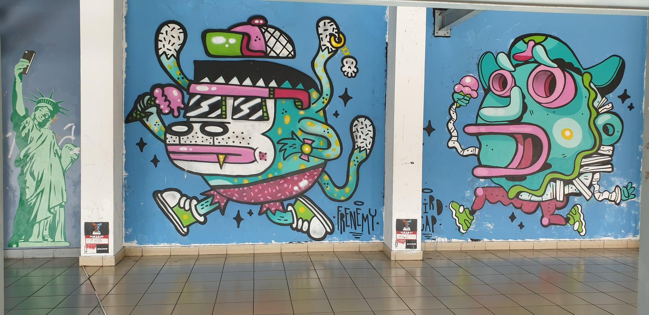 טיול גרפיטי ואמנות רחוב בתחנה המרכזית בת``א