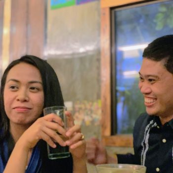 Interview during family dinner. Majal Mirasol and Regine Garcia.