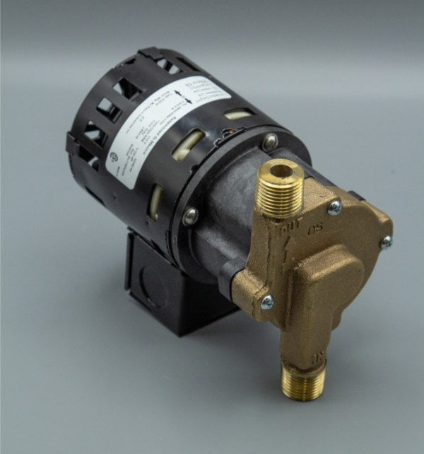 March Pump's 809-BR centrifugal sealless magnetic drive pumps with Bronze front housing.
