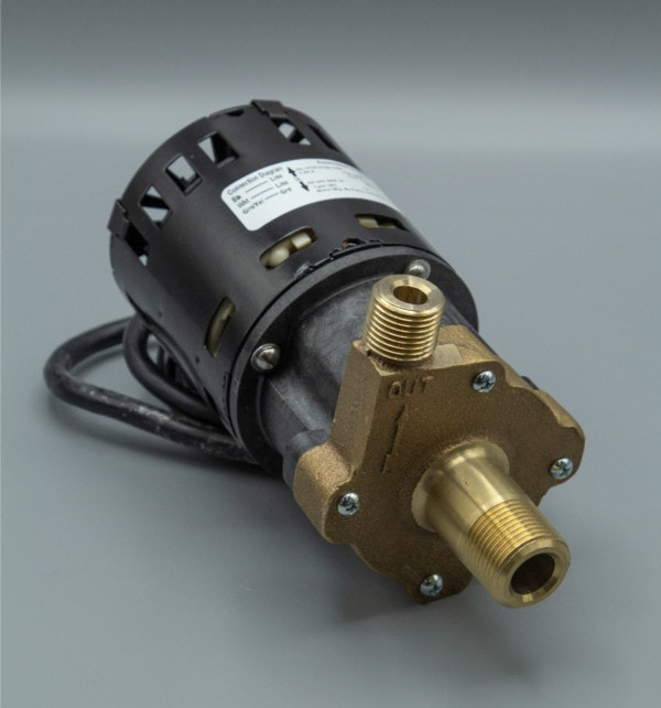 March Pump's 809-BR-C centrifugal sealless magnetic drive pumps with Bronze front housing.