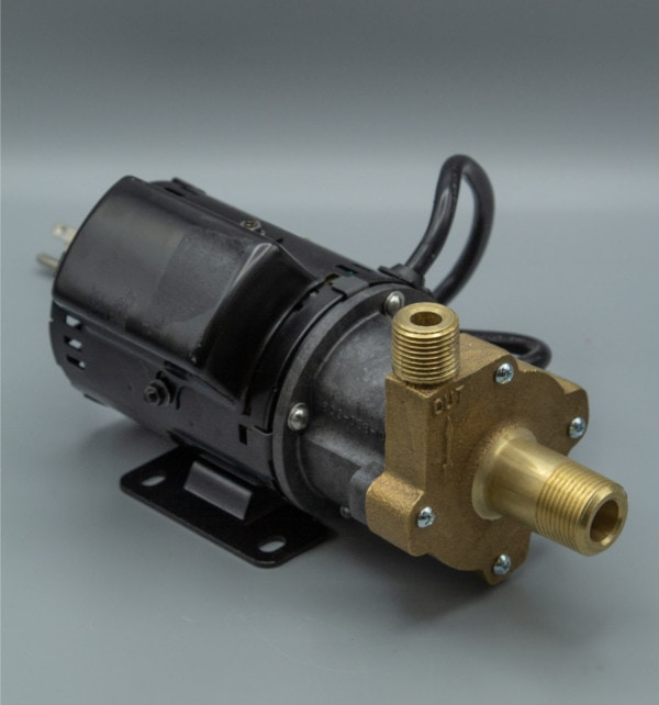March Pump's 809-BR-HS-C centrifugal sealless magnetic drive pumps ideal for hot water applications.