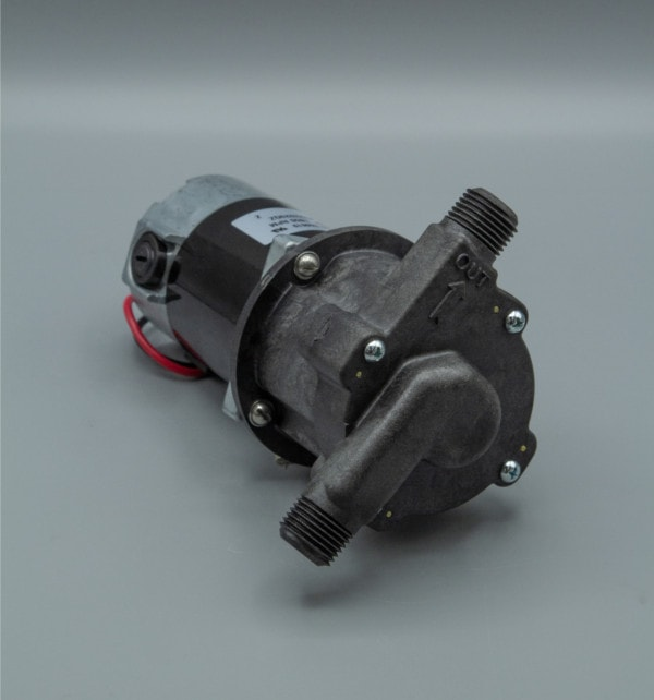 March Pump's 809-PL-HS centrifugal sealless magnetic drive pumps with DC brush type motor.