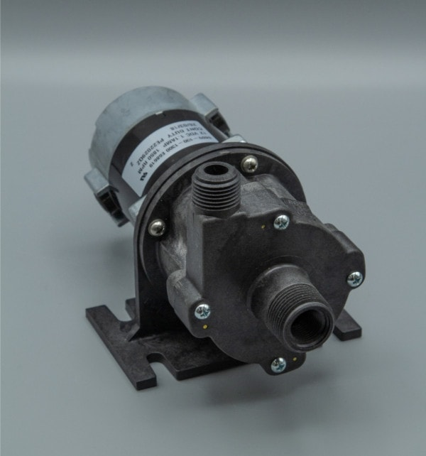 March Pump's 809-PL-C centrifugal sealless magnetic drive pumps with DC brush type motor.