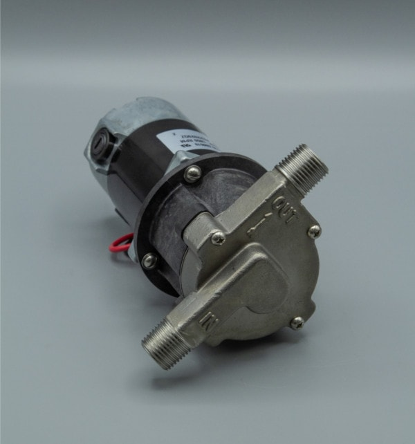 March Pump's 809-SS-HS centrifugal sealless magnetic drive pumps with DC brush type motor.