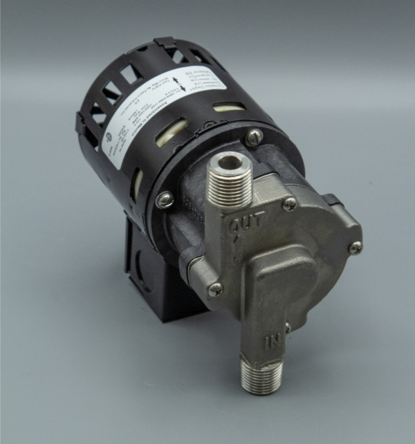 March Pump's 809-SS centrifugal sealless magnetic drive pumps with Stainless Steel front housing.