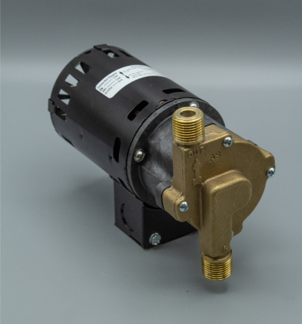 March Pump's 809-BR-HS centrifugal sealless magnetic drive pumps ideal for hot water applications.