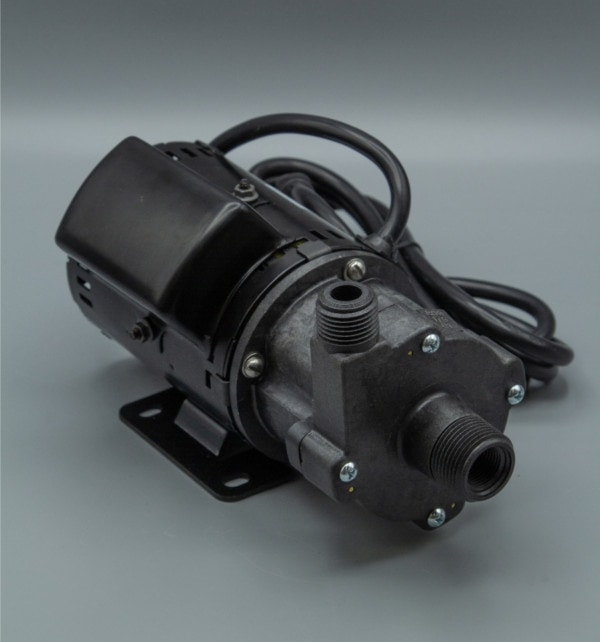March Pump's 809-PL-HS-C centrifugal sealless magnetic drive pumps ideal for hot water applications.