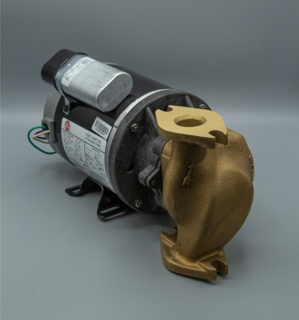 March Pump's 830-BR centrifugal sealless magnetic drive bronze pumps ideal for hot water applications.