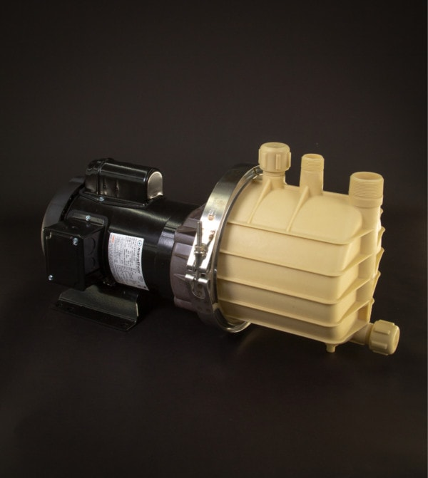 March Pump's SP-TE-7K-MD centrifugal sealless magnetic drive self priming pumps ideal for chemical applications.