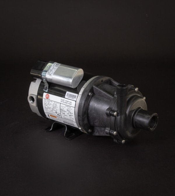 March Pump's TE-5.5C-MD-AC centrifugal sealless magnetic drive pumps constructed from Polypropylene ideal for chemical applications.