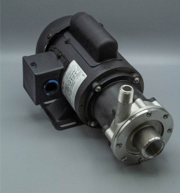 March Pump's TE-5S-MD centrifugal sealless magnetic drive pumps constructed from 316 Stainless Steel ideal for chemical applications.