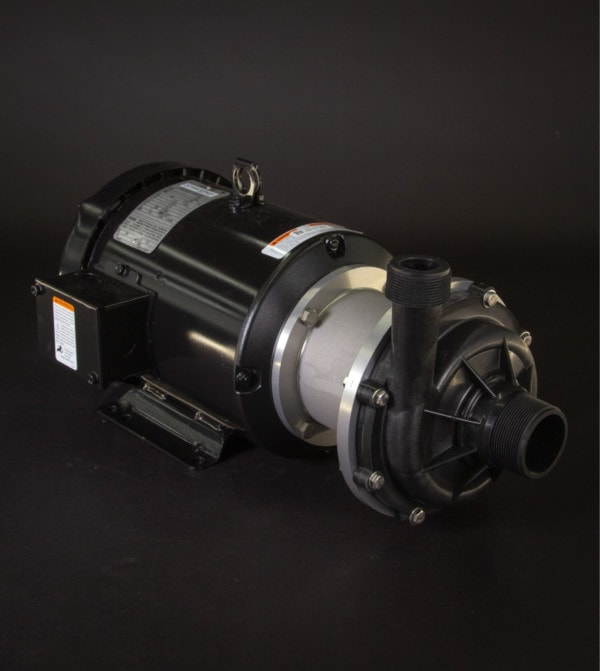 March Pump's TE-7.5P-MD centrifugal sealless magnetic drive pumps ideal for chemical applications.