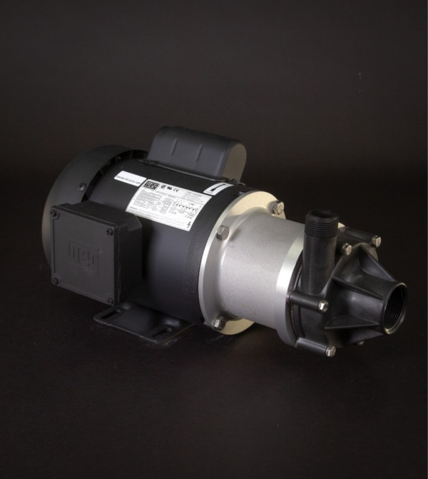 March Pump's TE-7R-MD centrifugal sealless magnetic drive pumps ideal for chemical applications.