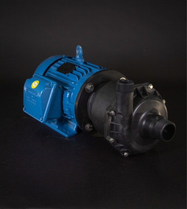 March Pump's TE-8C-MD-HF centrifugal sealless magnetic drive pumps ideal for chemical applications.