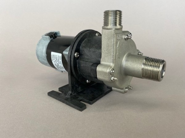 March Pump's 809-SS-HS-C centrifugal sealless magnetic drive pumps with DC brush type motor.