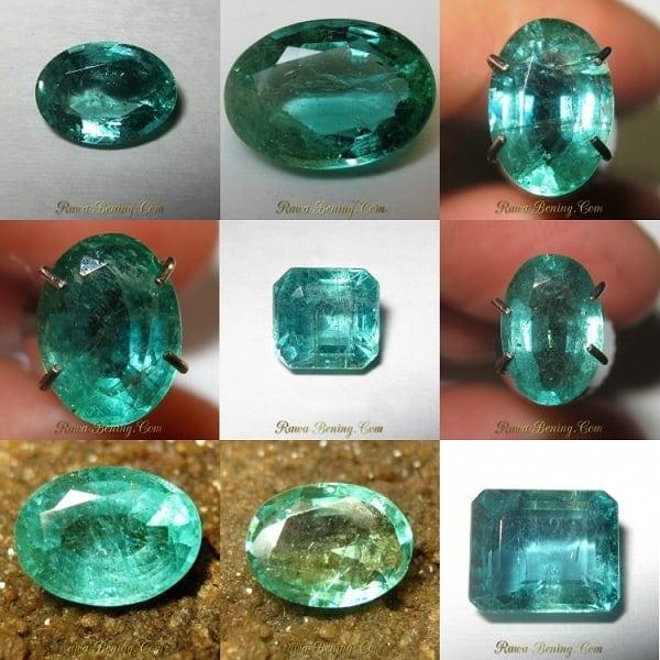 Batu Zamrud Zambia Asli yang Kualitas Bagus