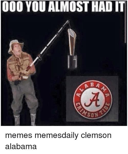 clemson alabama memes