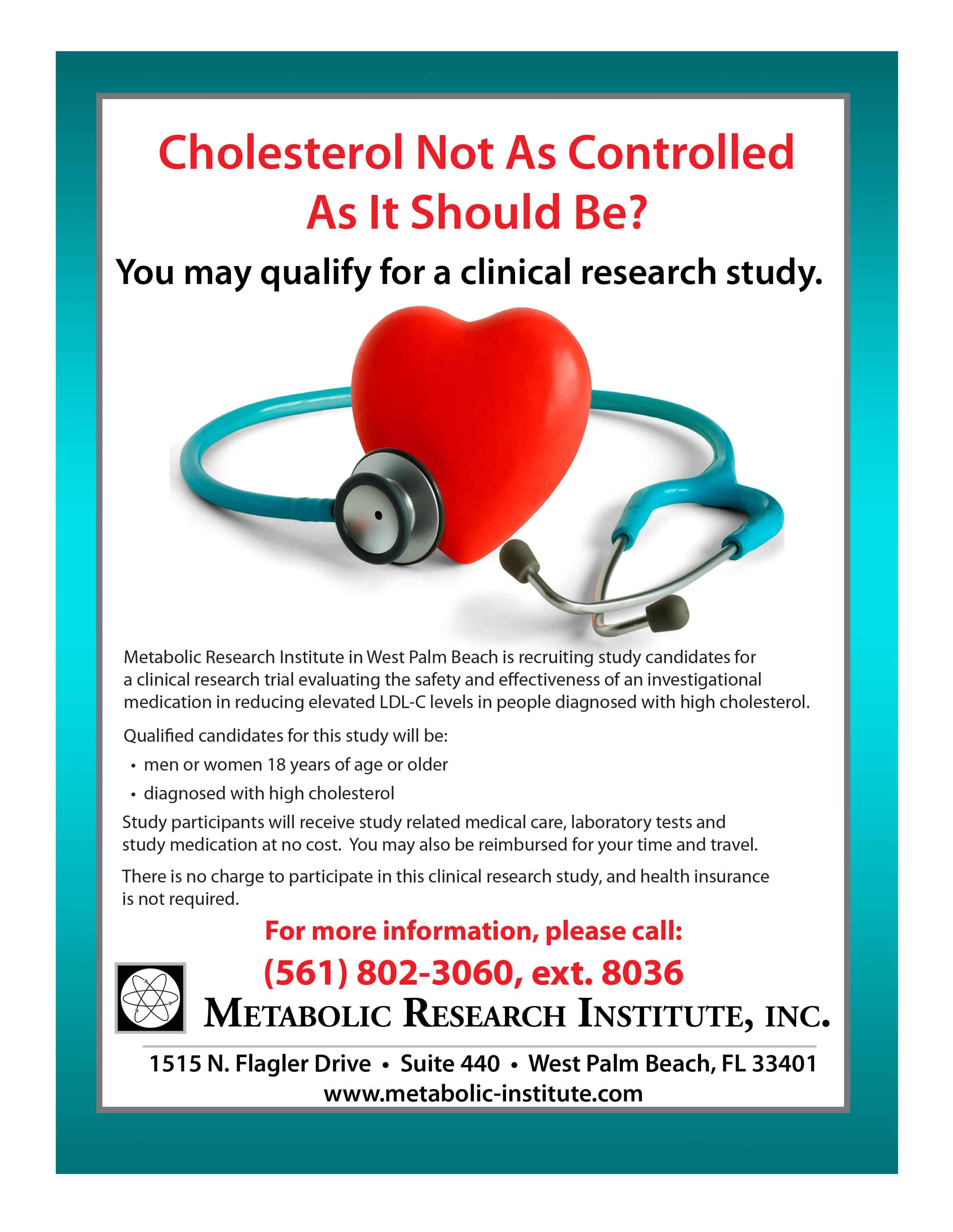 High Cholesterol Clinical Trial