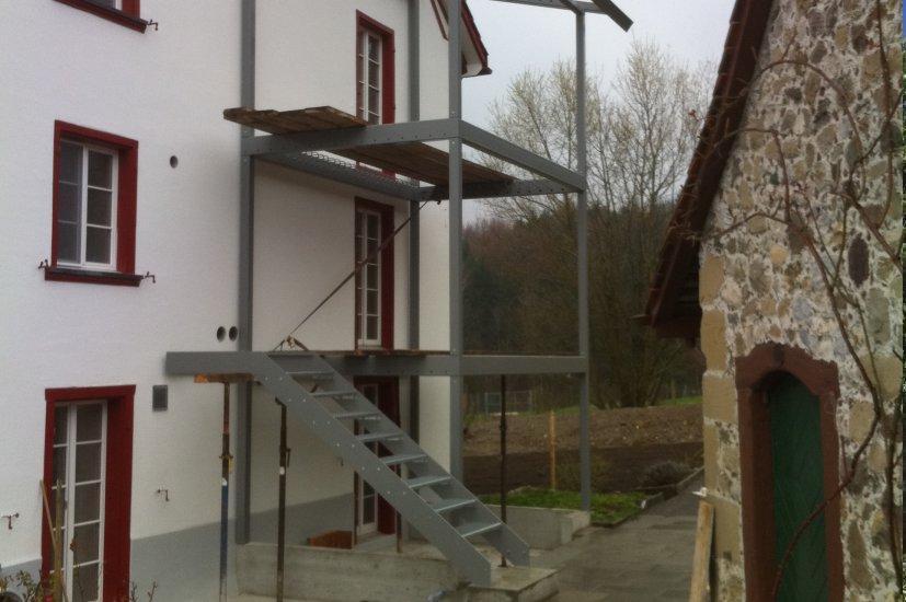 Balkonanbau Treppe