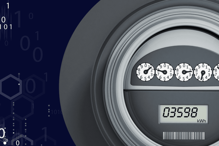 Meter with an Abstract Background