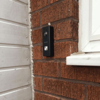 black hikvision wifi doorbell in birmingham