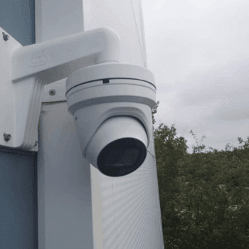 4K Hikvision Turret camera on warehouse