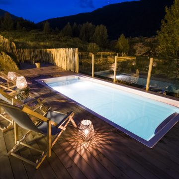 Mountain hostel tarter andorra outdoor pool jacuzzi swim spa night-67