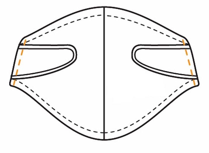 Behelfsmaske Gummiband einziehen