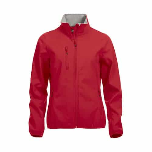 Clique Basic Dames Softshell jas - rood