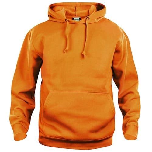 Clique Basic Hoody trui - fluoriserend oranje