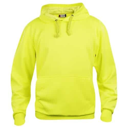 Clique Basic Hoody trui - fluoriserend geel